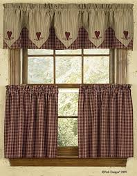 Tier Curtains 24 Inch by Sturbridge Green 24 Inch Curtain Tiers Primitives Valance And Wine