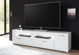 lowboard tv board corado 180cm weiß hochglanz wohnzimmer modern