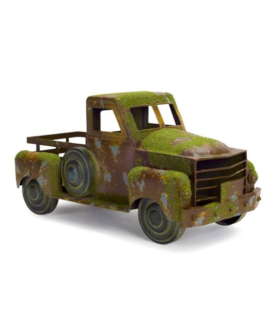 Melrose International Metal Country Rustic Pickup Truck Decor - Green and Brown, 18""