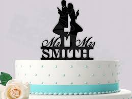 Mr Mrs Smith Inspired Personalized Wedding Cake Topper