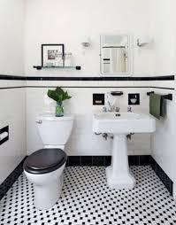 schwarz und weiß geflieste badezimmer deko ideen badezimmer