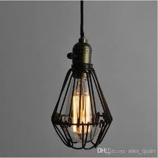 vintage wrought iron pendant lighting small iron cages chandelier