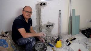 renovierung vom wohnzimmer kabelkanal im mauerwerk wände glätten