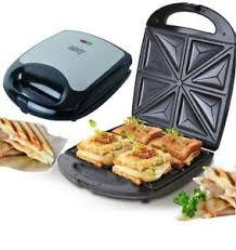 details zu sandwichmaker 4er edelstahl sandwichtoaster sandwich maker elektrogrill