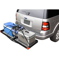 Highland Steel Hitch Mounted Cargo Tray, Black - Walmart.com