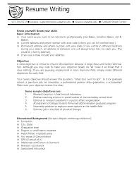 Objective Writing For Resume Part Time Job Resume Objective Writing