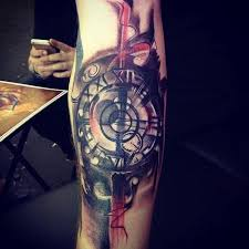 Abstract Compass Clock By Marco Ventura TattooNOW