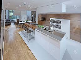 loft küche mit esszimmer
