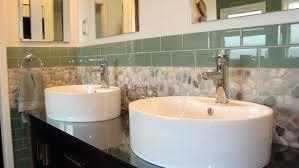 bathroom glass tile backsplash ideas of glass tile trim