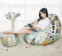 abdeckung nur keine füllstoff mit hocker befestigt sitzsack stuhl wohnzimmer sitzsack sofa möbel birne form hocker sitzsack set