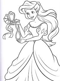 Princess Coloring Pages For Girls Ariel