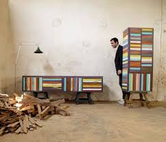 Brightly Painted Scrap Wood Furniture Recycled Doors