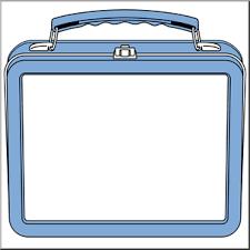 Clip Art Lunch Box Blue I Abcteach