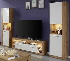 Anbauwand Wohnzimmer Mã Bel Details Zu Wohnwand In Weiß Hochglanz Eiche Wotan Anbauwand Wohnzimmer Möbel 290 Cm Rock