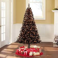 Head Over To Walmart And Score This Holiday Time Pre Lit 65 Madison Pine Black Artificial Christmas Tree Clear Lights On Sale For 2599 Reg 39