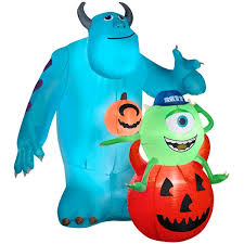 Large Blow Up Halloween Decorations by Airblown Sulley And Mike