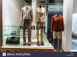 Paris France Shopping Mens Clothing And Accessories Montorgeuil District Shop Front Window Display Kabuki