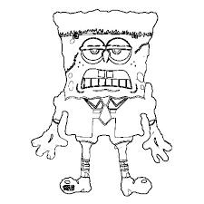 Sponge Bob Coloring Sheets