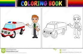 Livre De Coloriage Pour Les Enfants Voiture Dambulance Image