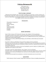 1 Personal Banker Resume Templates Try Them Now Myperfectresume Rh Com Example Bank Teller