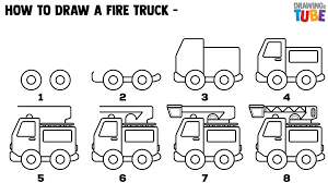 99 How To Draw A Fire Truck Step By Step For Kids By Step Ings For Kids