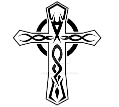 Tribal Cross Tattoo Design By Wearwolfclothing