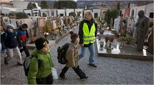 In A Program Aimed At Reducing Vehicle Emissions Walked Children To School Through Cemetery Lecco Italy Credit Dave Yoder For The New York Times