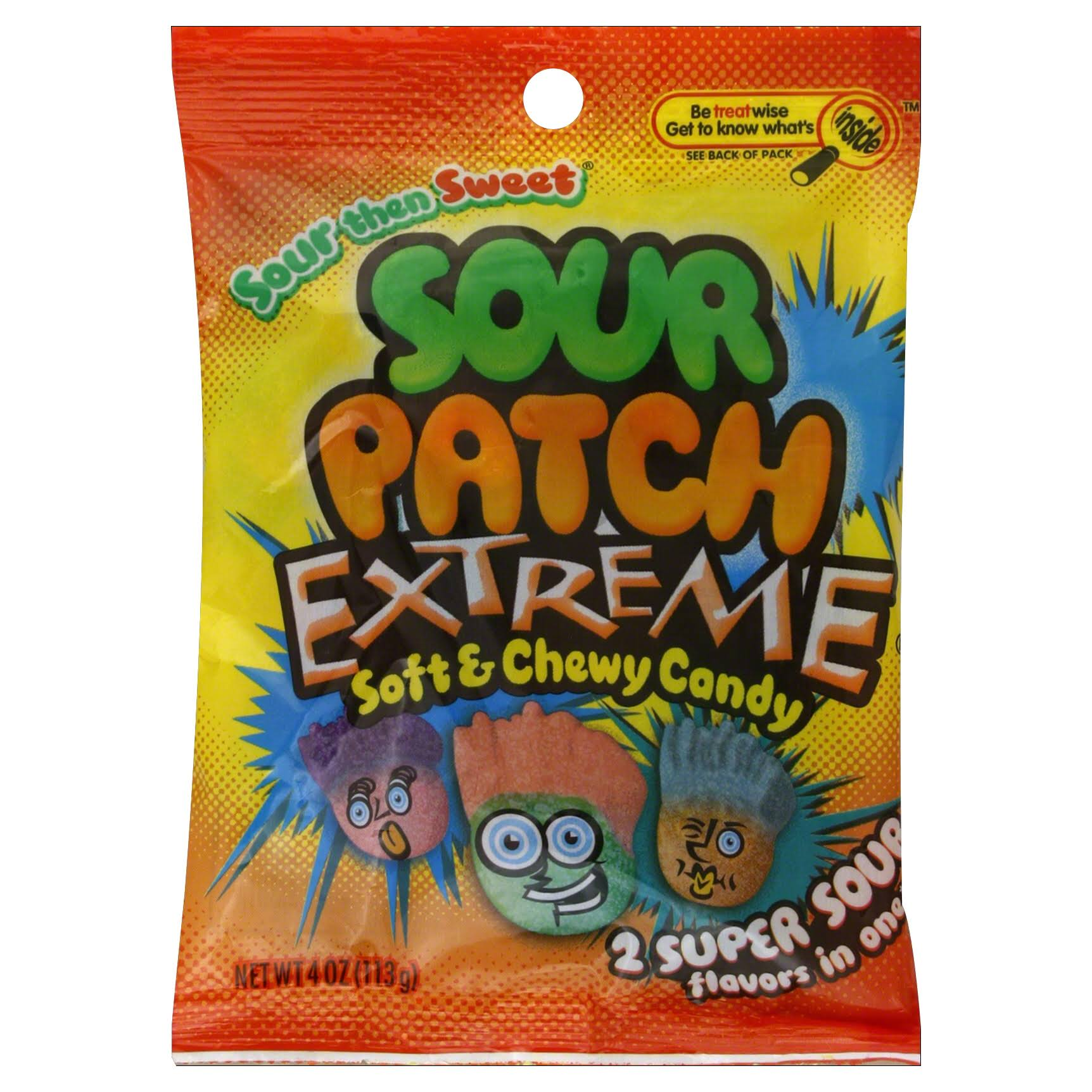 Sour Patch Kids Sweet and Sour Gummy Candy - Extreme, 4oz