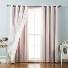 Dkny Curtain Panels Uk by Dkny Front Row 84 Inch Back Tab Window Curtain Panel In Blush