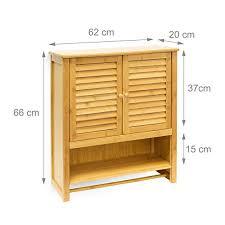 relaxdays hängeschrank lamell 66 x 60 x 20 cm badschrank zum hängen