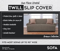 Sure Fit Sofa Covers Ebay by Brenna Collection Strapless Twill Form Fit Furniture Slipcover Ebay
