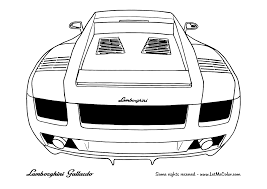 Cars Coloring Page Lamborghini Gallardo Rear
