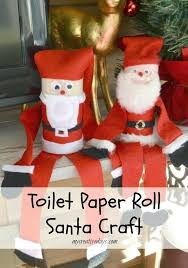 Quick And Easy Craft Ideas For Kids Out Of A Cardboard Roll Decoration Santa Crafts Toddlers
