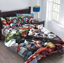 Marvel Avengers Agents of SHIELD forter Set with Fitted Sheet