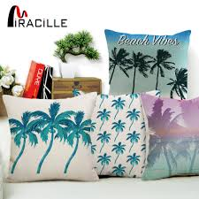US $3.39 15% OFF|Miracille Tropical Palm Tree Pattern Decorative Pillow  Covers Summer Beach Style Hotel Chair Waist Cushion Cover Pillowcase -in ...