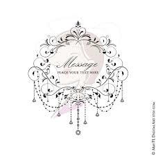 Chandelier Frames Black Retro Flourish Swirl Elegant Chain Crystal Floral Wedding Scrapbook High Resolution VECTOR Clipart 10358
