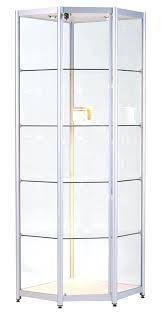 fashionable glass corner display cabinet choosepeace me