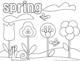 Spring Coloring Pages Free Archives Best Page Line Drawings