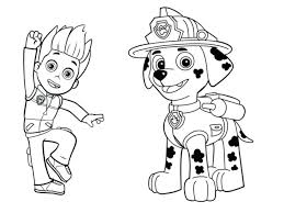 Paw Patrol Coloring Pages Feat Full Size Of Printable As Well