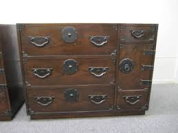 Broyhill Brasilia Gentlemans Dresser by Exciting Pair Of Baker Modern Asian Tansu Chest Cabinets Mid