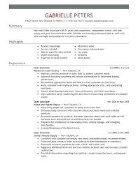Sample Resume For Government Position Employee Sales Associate