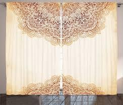 gardine schlafzimmer kräuselband vorhang mit schlaufen und haken abakuhaus mandala klassiker kaufen otto