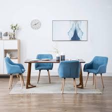 vidaxl esszimmerstühle 4 stk blau stoff gitoparts