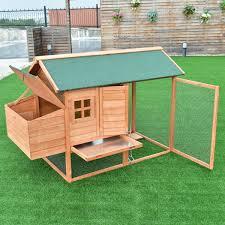 Shop Gymax 64 Chicken Coop Rabbit Hutch Poultry Outdoor Garden