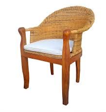 esszimmer stuhl rattan dago cobra mit armlehnen