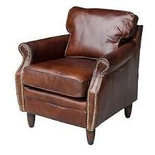 Pottery Barn Irving Chair Recliner by Leather Club Chair Ebay