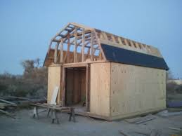 Slant Roof Shed Plans Free by Free Gambrel Roof Storage Shed Plans