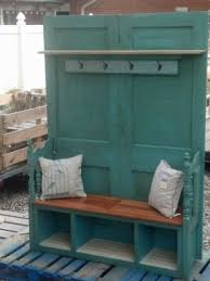 Use Two Doors To Make Into Entry Way Bench Coat Rack