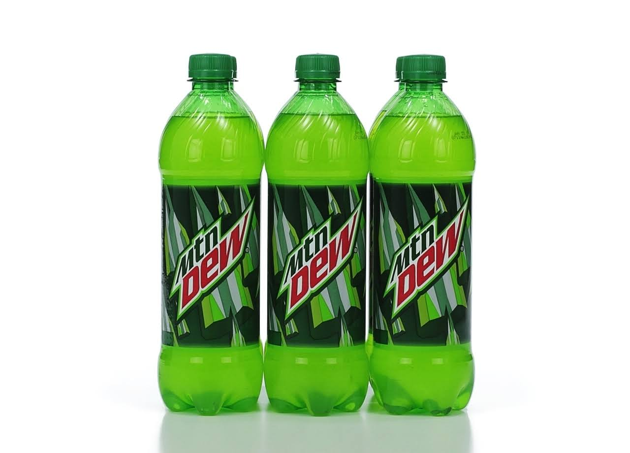 Mountain Dew Soda - 6 pack, 24 fl oz