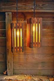 411 best Pallet Lamp & Light images on Pinterest